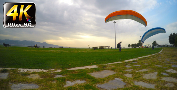 VideoHive Practice with Parachute in Nature 2 9716525