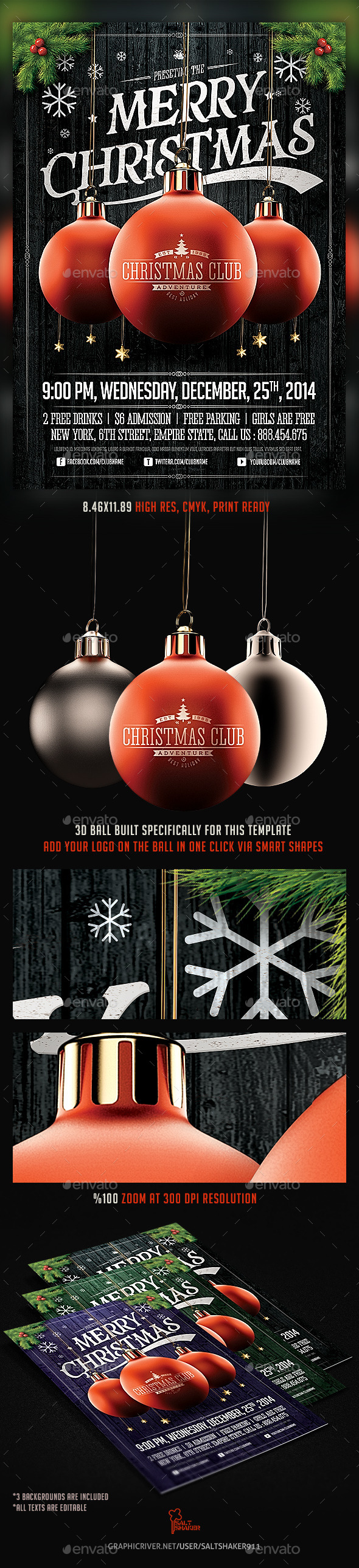 GraphicRiver Christmas Party Flyer Template v.2 9716574