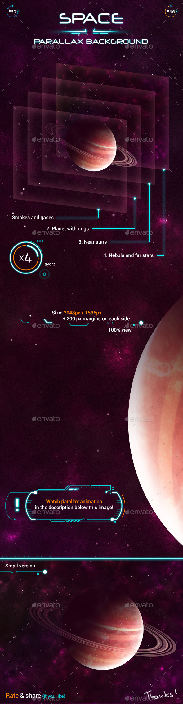 GraphicRiver Space Parallax Background 9716622
