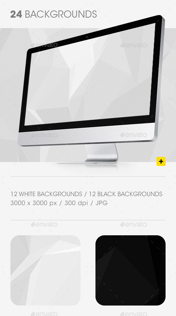 GraphicRiver Black and White Geometric Backgrounds 9716646