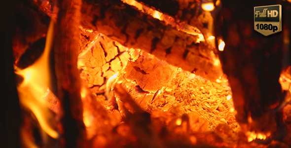 VideoHive Fire Burning in a Fireplace 9716817