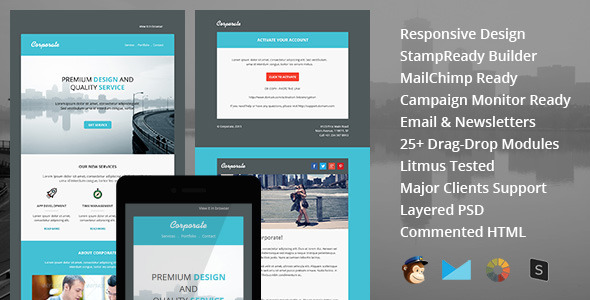 ThemeForest Corporate responsive email newsletter templates 9663594