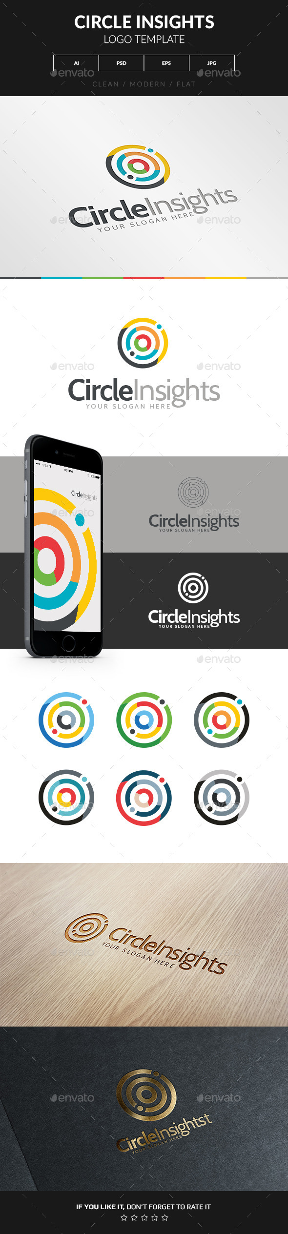GraphicRiver Circle Insights Logo 9696232