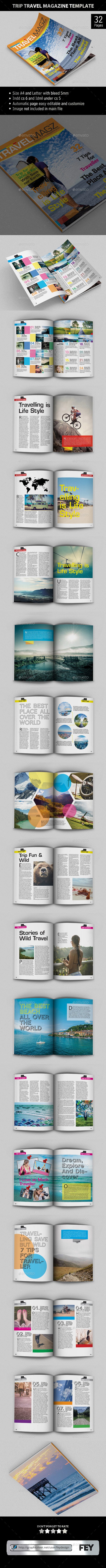 GraphicRiver Trip Travel Magazine Template 9717069