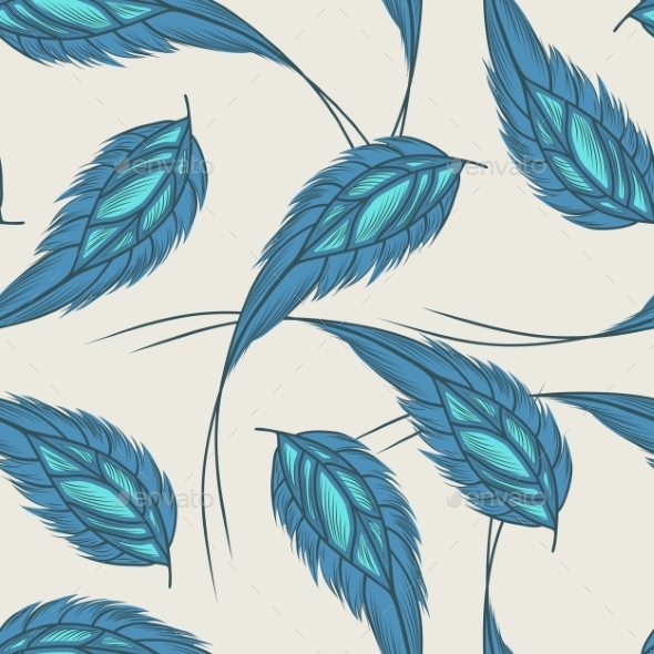 GraphicRiver Feathers Pattern 9717122