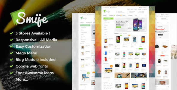 ThemeForest Smije Responsive Multipurpose Magento theme 9717437