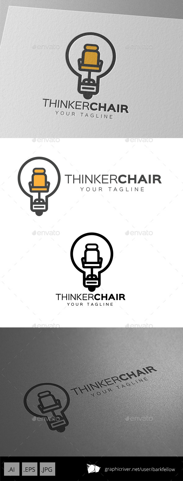 GraphicRiver Smart Thinker Chair Logo 9717584