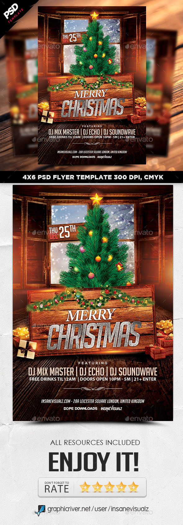 GraphicRiver Merry Christmas Flyer Template 9717678