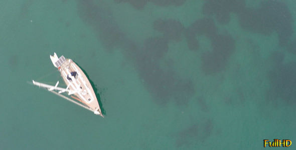 VideoHive Yacht Anchored at the Bay 9718016