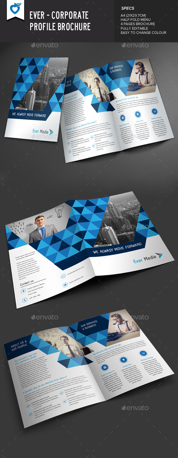 GraphicRiver Ever Corporate Profile Brochure 9718024