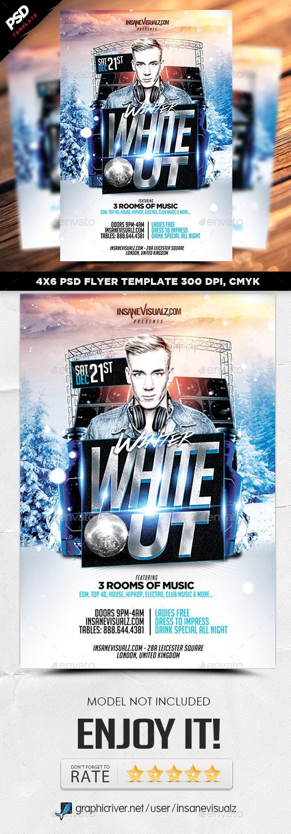 GraphicRiver Winter White Out Flyer 9718202