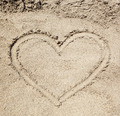 Heart drawn in the sand. - PhotoDune Item for Sale