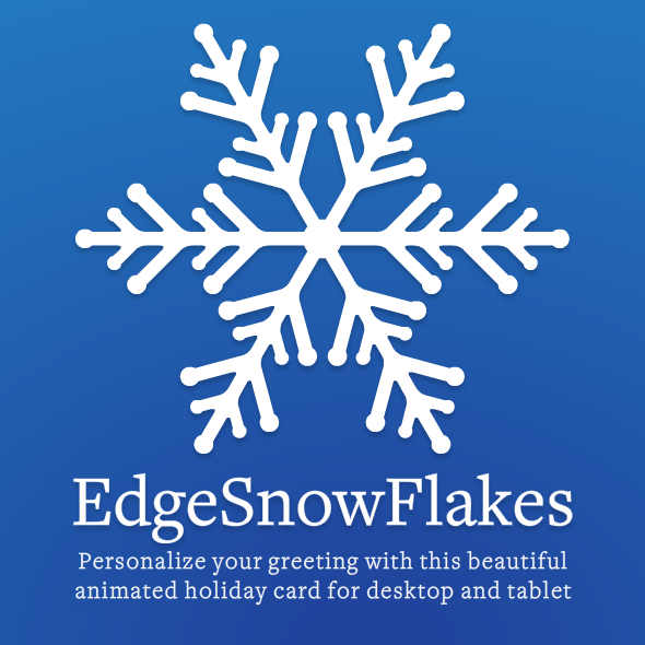 CodeCanyon EdgeSnowFlakes Personalized Animated Holiday Card 9692395