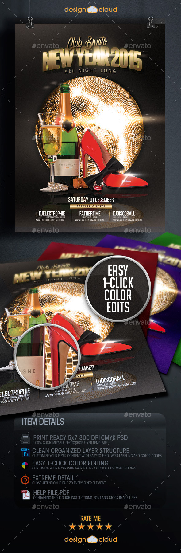 GraphicRiver New Year s Event Flyer Template Vol 2 9718634