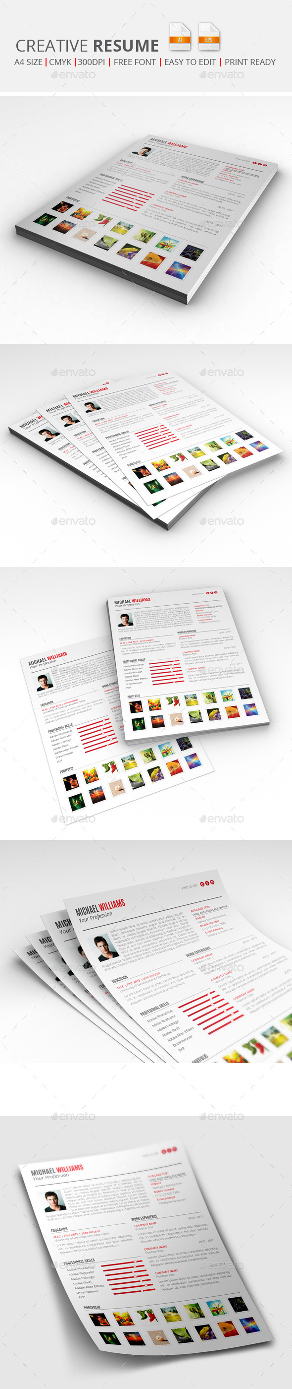 GraphicRiver Creative Resume 9718702