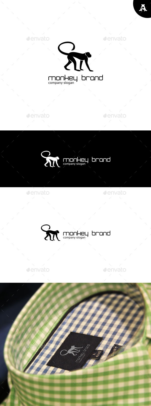 GraphicRiver Monkey Brand Logo 9718714