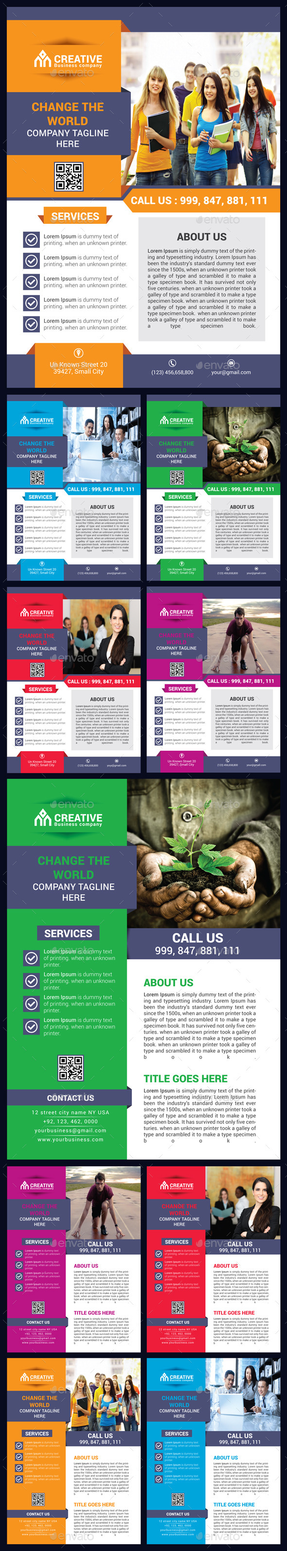 GraphicRiver Corporate Business Flyer Bundle 9718738