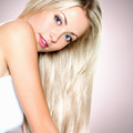 Beautiful woman with long straight white hair - PhotoDune Item for Sale
