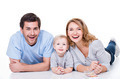 Smiling young family with little child. - PhotoDune Item for Sale