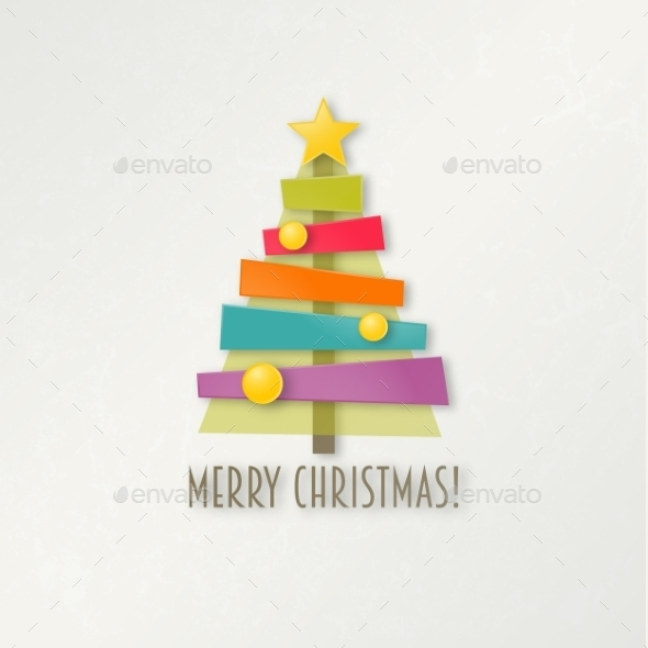 GraphicRiver Abstract Colorful Christmas Tree 9718839