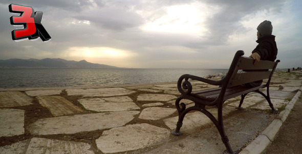 VideoHive Man on a Seat near the Sea 1 9718843