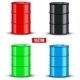 Set of Metal Oil Barrels - GraphicRiver Item for Sale