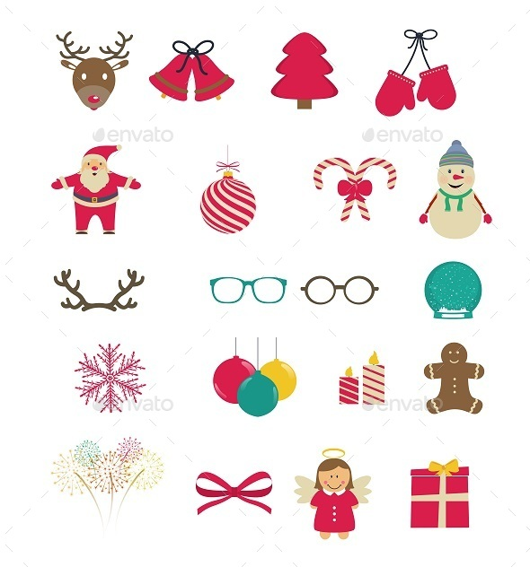 GraphicRiver Set of Christmas Icons 9718865
