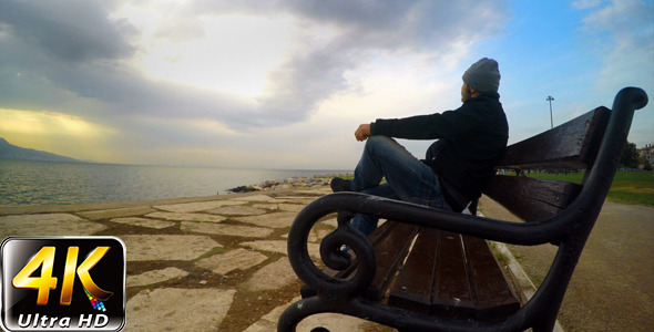 Man on a Seat near the Sea 3