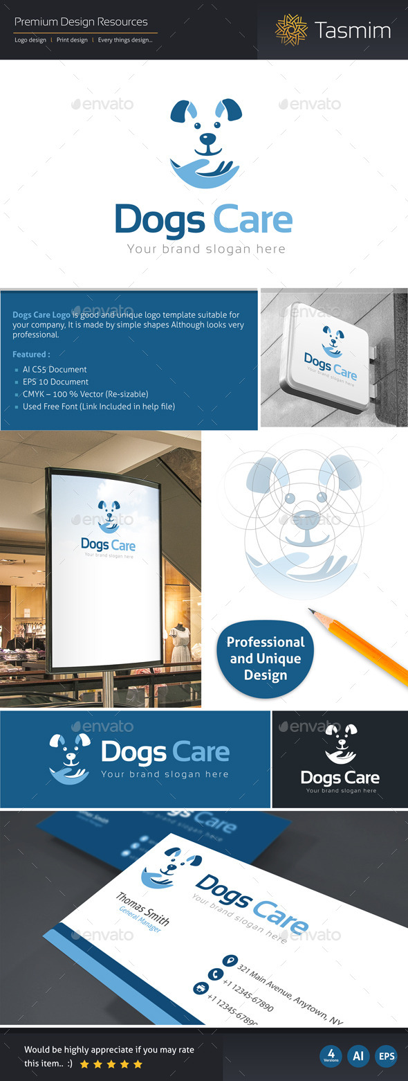 GraphicRiver Dogs Care Logo Template 9718886