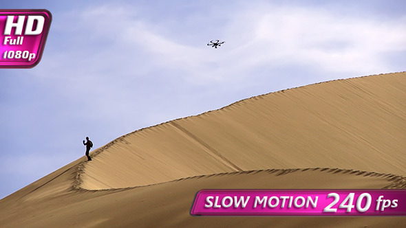 VideoHive Hexacopter Over the Dunes 9718895