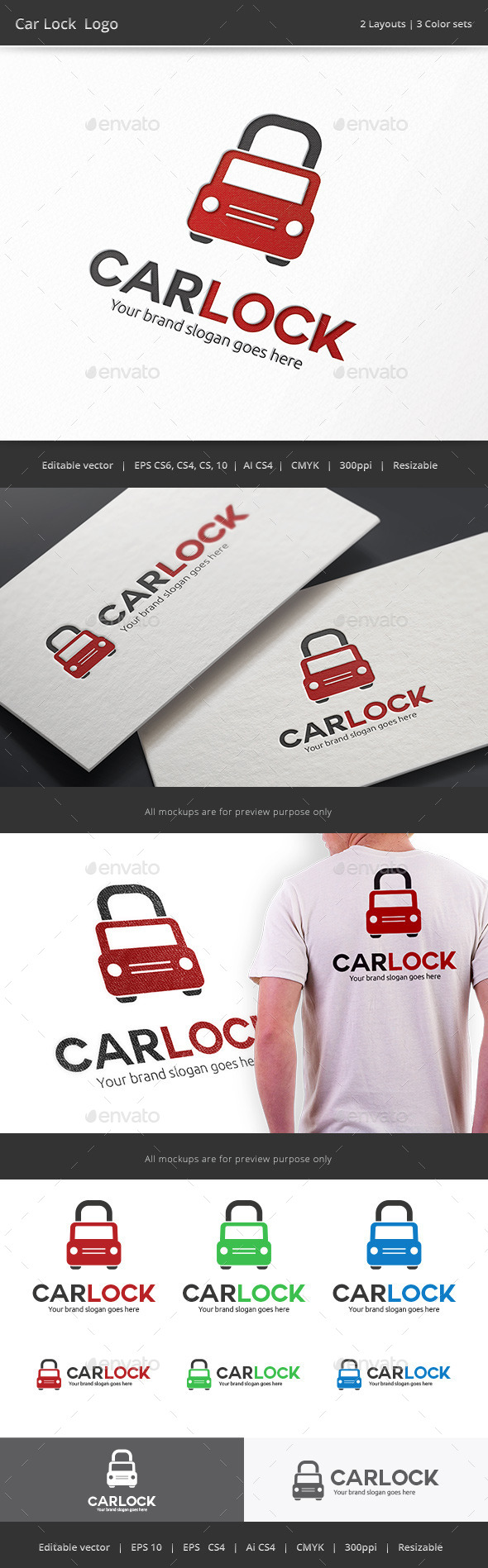GraphicRiver Car Lock Logo 9718947
