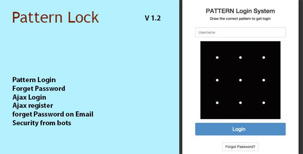 Pattern Lock Login Register in PHP