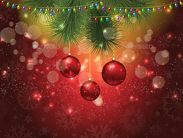 GraphicRiver Christmas Bauble Background 9719001
