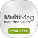 MultiMag - Clean & Flat Magazine HTML - ThemeForest Item for Sale