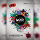 Paint War Party Flyer - GraphicRiver Item for Sale