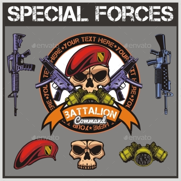 GraphicRiver Special Forces Patch Set 9719055
