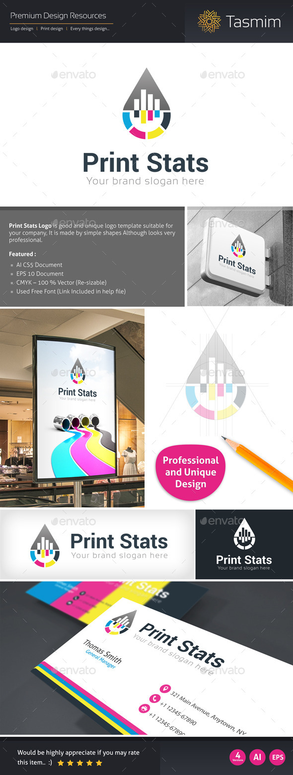 GraphicRiver Print Stats Logo Template 9719062
