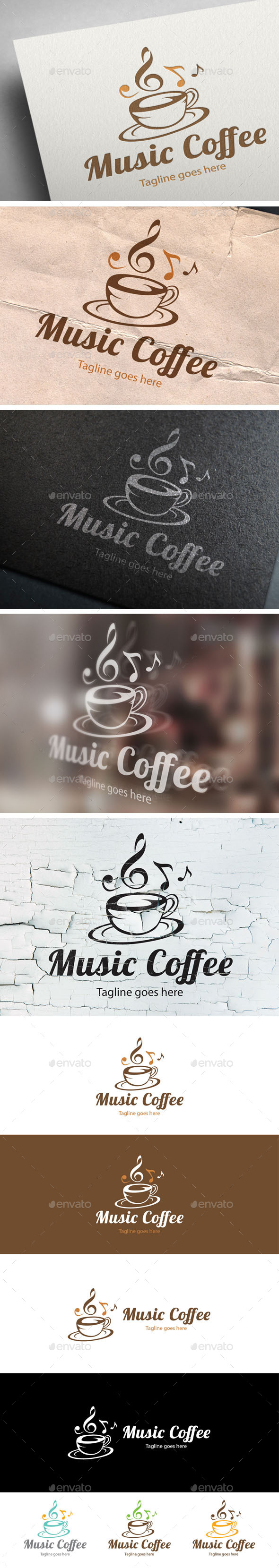 GraphicRiver Music Coffee Logo Design 9719122