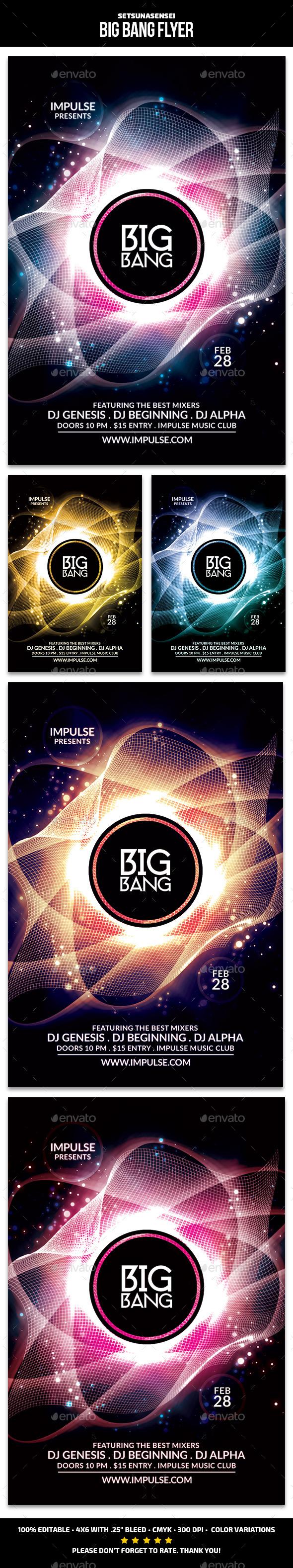 GraphicRiver Big Bang Flyer 9719153