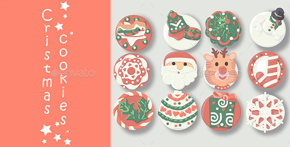GraphicRiver 12 Christmas Cookies 9703059