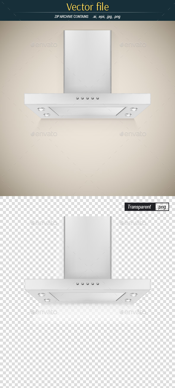 GraphicRiver Modern Metallic Cooker Hood 9719396