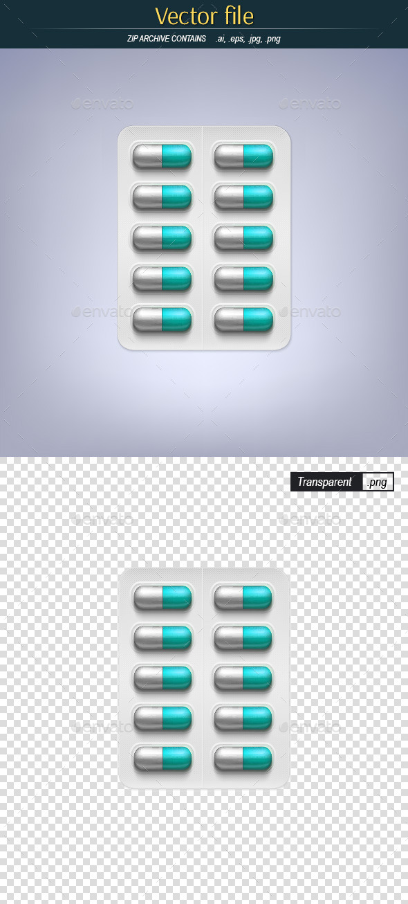 GraphicRiver Pills in a Blister Pack 9719402