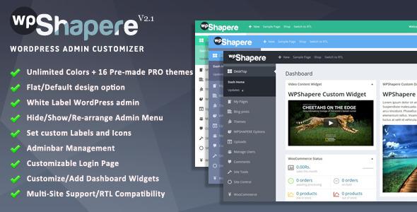 Wordpress Admin Theme WPShapere