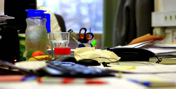VideoHive A Mess in the Office During Lunch 9719452