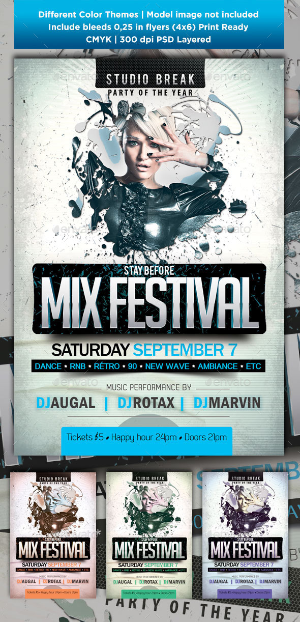 GraphicRiver Stay Before mix festival 9625455