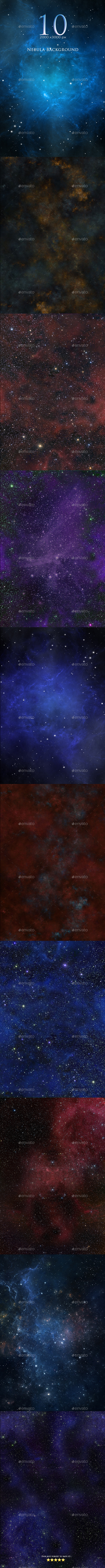 GraphicRiver 10 Nebula Backgrounds 9719515