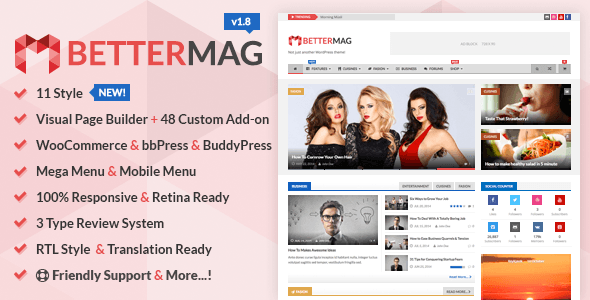 Better Mag WordPress Templete