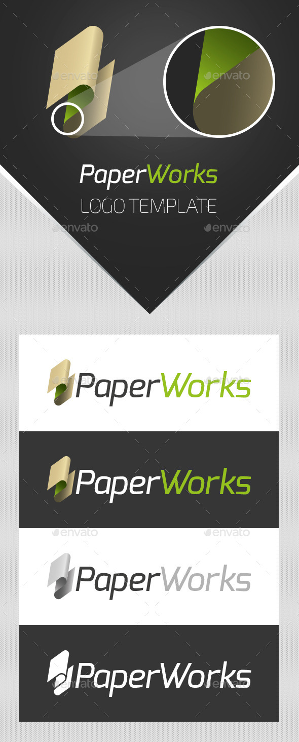 GraphicRiver PaperWorks Logo Template 9719528