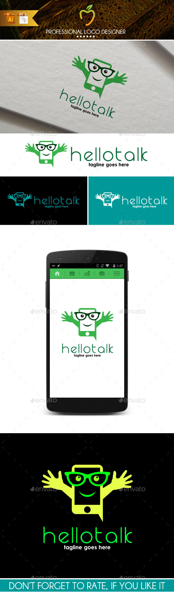 GraphicRiver Hello Talk Logo 9719570