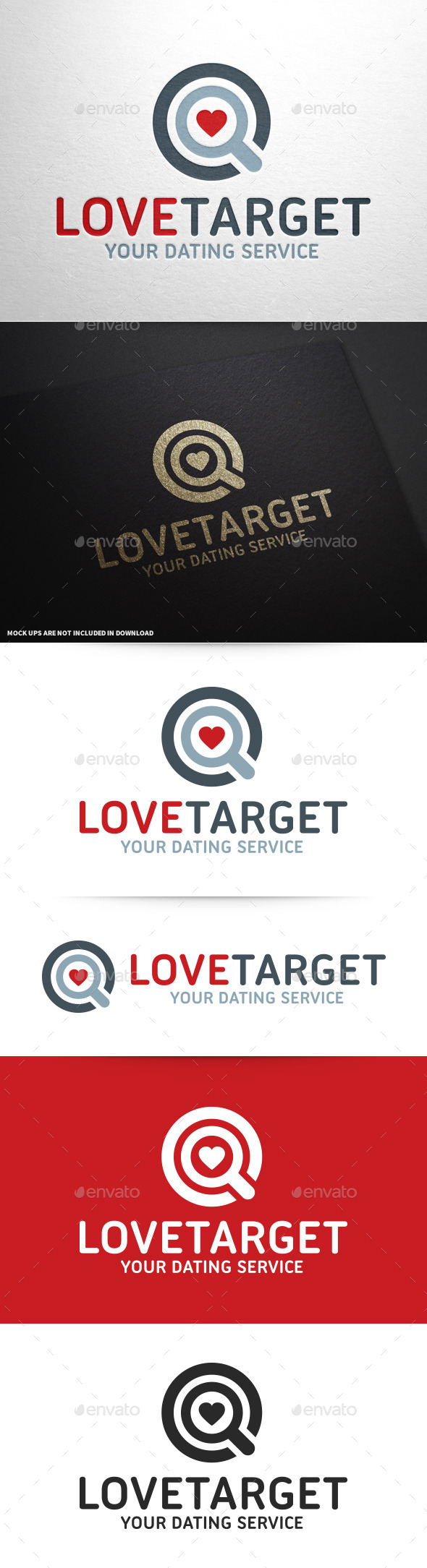 GraphicRiver Love Target Logo Template 9719575